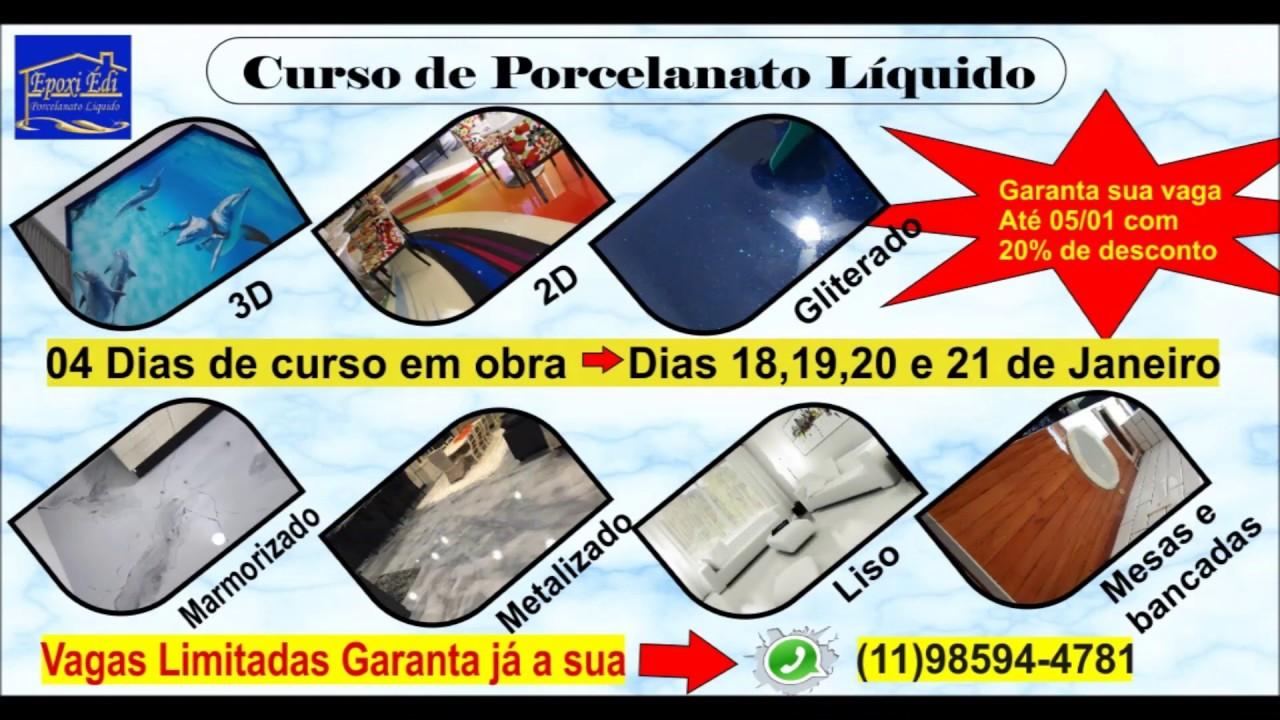 PORCELANATO LIQUIDO CURSO EM SÃO PAULO