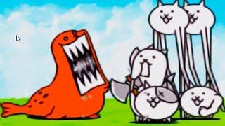 The Battle Cats прохождение - игра как мультик для детей - ударный отряд котят