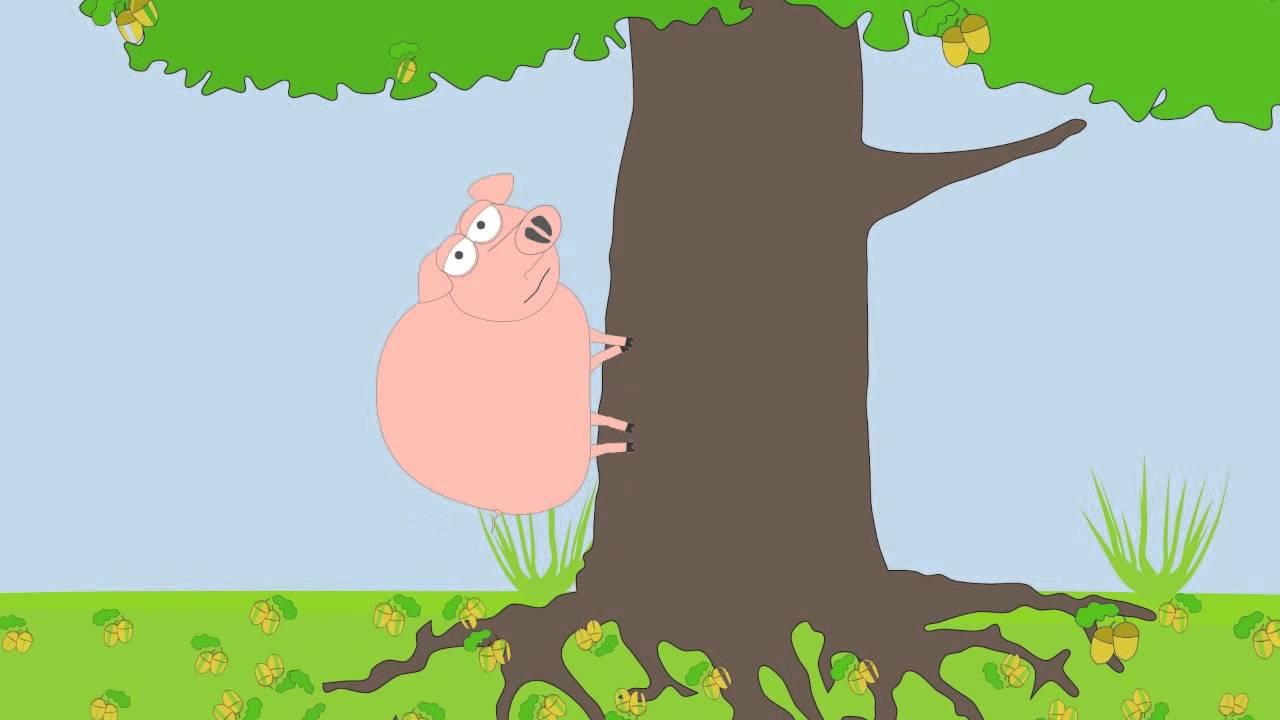 Рисунок к басне свинья под дубом, картинки малышами картинка