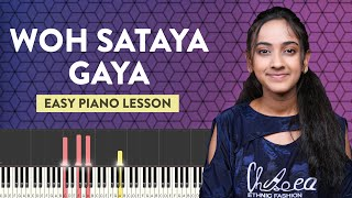 वो सताया गया | Woh Sataya Gaya - Easy Piano/Keyboard Lesson | Hindi Christian Songs | Yeshu Ke Geet