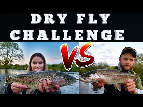 UK River Dry Fly Trout Fishing Challenge:  It Goes CRAZY As It Gets DARK!