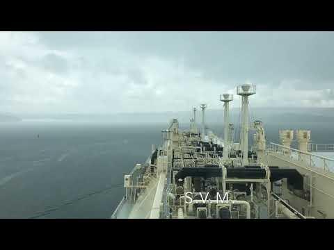 LNG/C Magellan Spirit transiting Panama Canal.