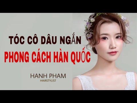 Hướng dẫn làm tóc cô dâu – Kiểu tóc cô dâu ngắn Hàn Quốc | Hạnh Phạm Hairstylist.