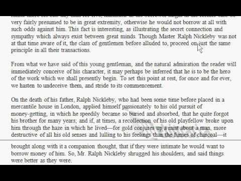 Nicholas Nickleby - Reading - Chapter 1 - Charles Dickens - ESL British English Reading