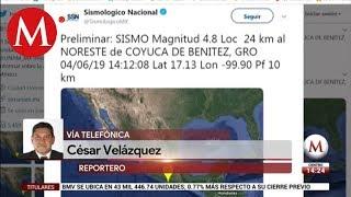 Sismo de magnitud 4.8 sacude a Guerrero; se siente en CdMx
