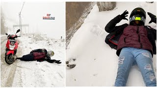 All India Trip On TVS NTORQ || We Got An Accident In Snow || Sikkim ||