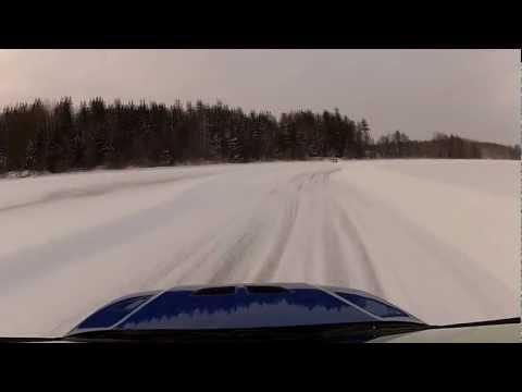 Mitsubishi Evo VII on ice