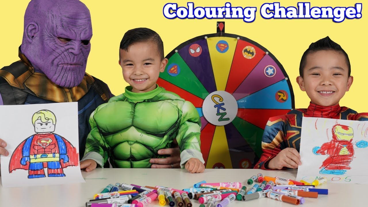 SUPERHERO Coloring Challenge Fun With CKN Toys
