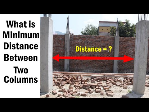 Maximum distance ( Space ) between two columns - what is Standard Distance between 2 Columns
