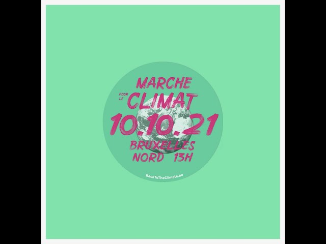 Action banderole - Marche Climat 10/10/2021 #BackToTheClimate