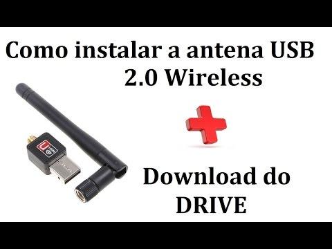 Como instalar a Antena USB 2.0 Wireless + Download do drive