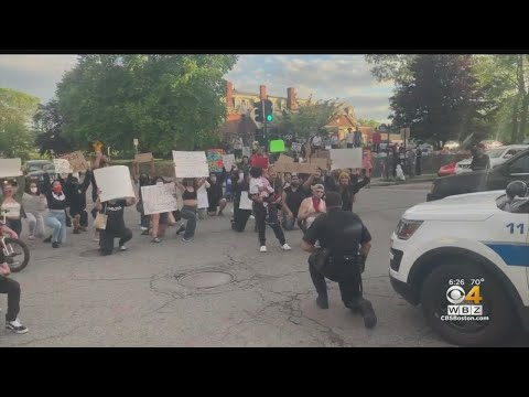 New Bedford, Worcester Police Kneel With Protesters