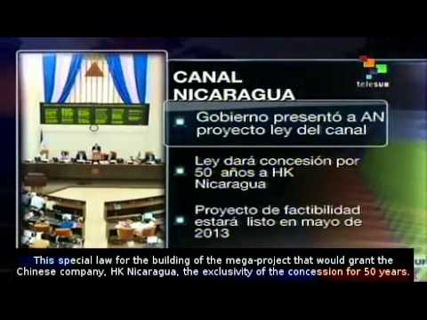 Government of Nicaragua presents bill to build Interoceanic canal