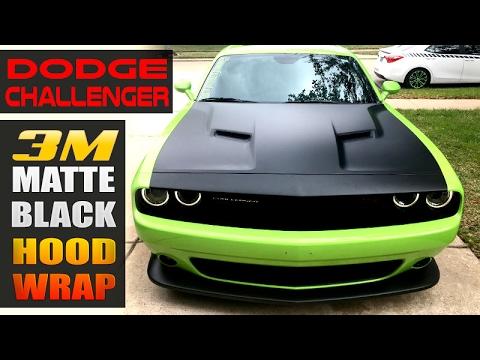 Challenger 3m Matte Black Hood Wrap Youtube