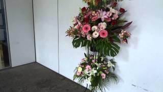 藤田玲様あてスタンド花を紀伊国屋サザンシアターへ配達しました。 http...