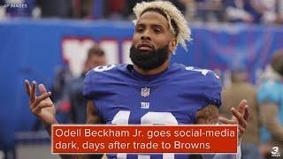Odell Beckham Jr goes socialmedia dark days after trade to Browns