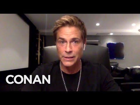 Rob Lowe Coached Michael Jordan & Magic Johnson - CONAN on TBS
