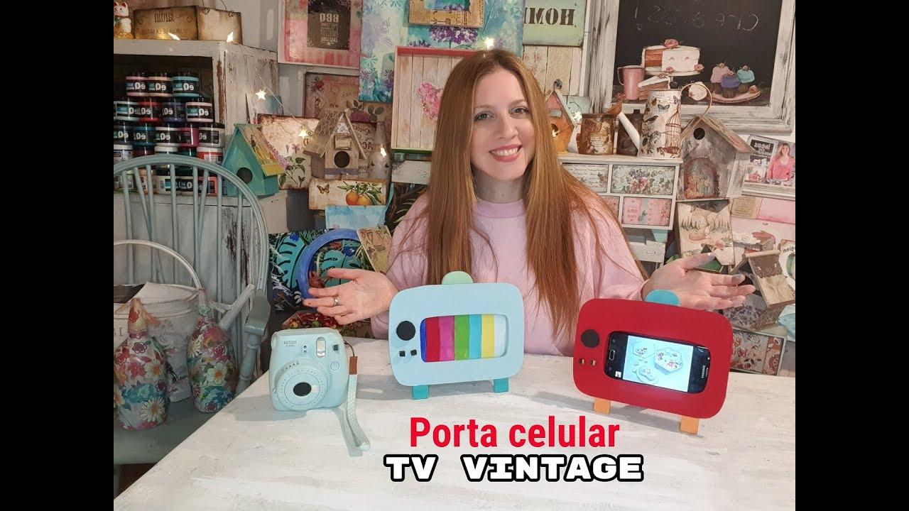 Como hacer unas TV Vintage porta Móvil ♥ Marina Capano