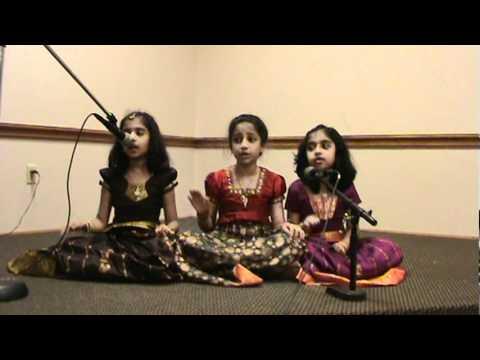 Ashwini & 2 friends singing Tolu Tolu Tolu ranga