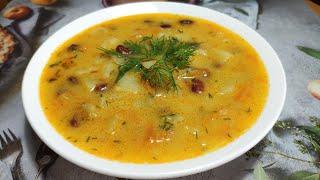 Суп с Плавленым Сыром на Скорую руку Рецепт Быстрого Сырного Супа без мяса