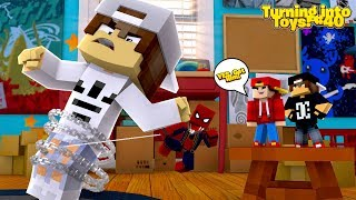 Minecraft Toys #40 - TOY SPIDER-MAN HELPS CAPTURE THE NICE KID FOR ROPO & JACK!!