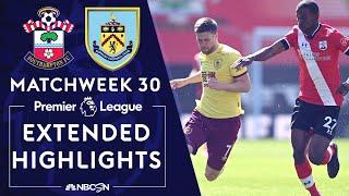 Southampton v. Burnley | PREMIER LEAGUE HIGHLIGHTS | 4/4/2021 | NBC Sports