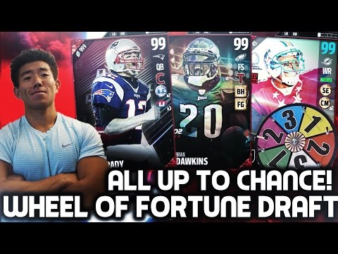 WHEEL OF FORTUNE DRAFT! WR THE GHOST OF CALVIN JOHNSON? MADDEN 17 DRAFT CHAMPIONS