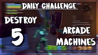 EASY WAY TO COMPLETE DAILY CHALLENGE! Destroy 5 Arcade Machines | Fortnite Save the World