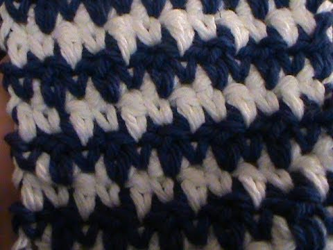 How to Crochet The Houndstooth - YouTube