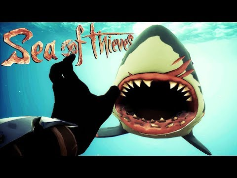 Giant New SHARK ATTACKS the CREW! - Sea of Thieves Gameplay - Sea of Thieves Closed Beta