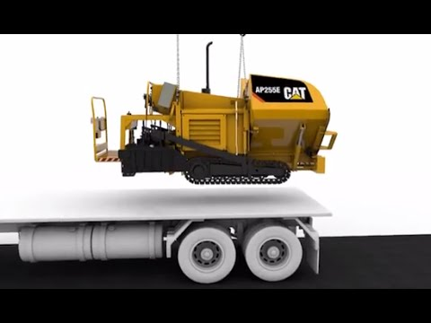 Cat® AP255E Track Asphalt Paver | Easy Transport