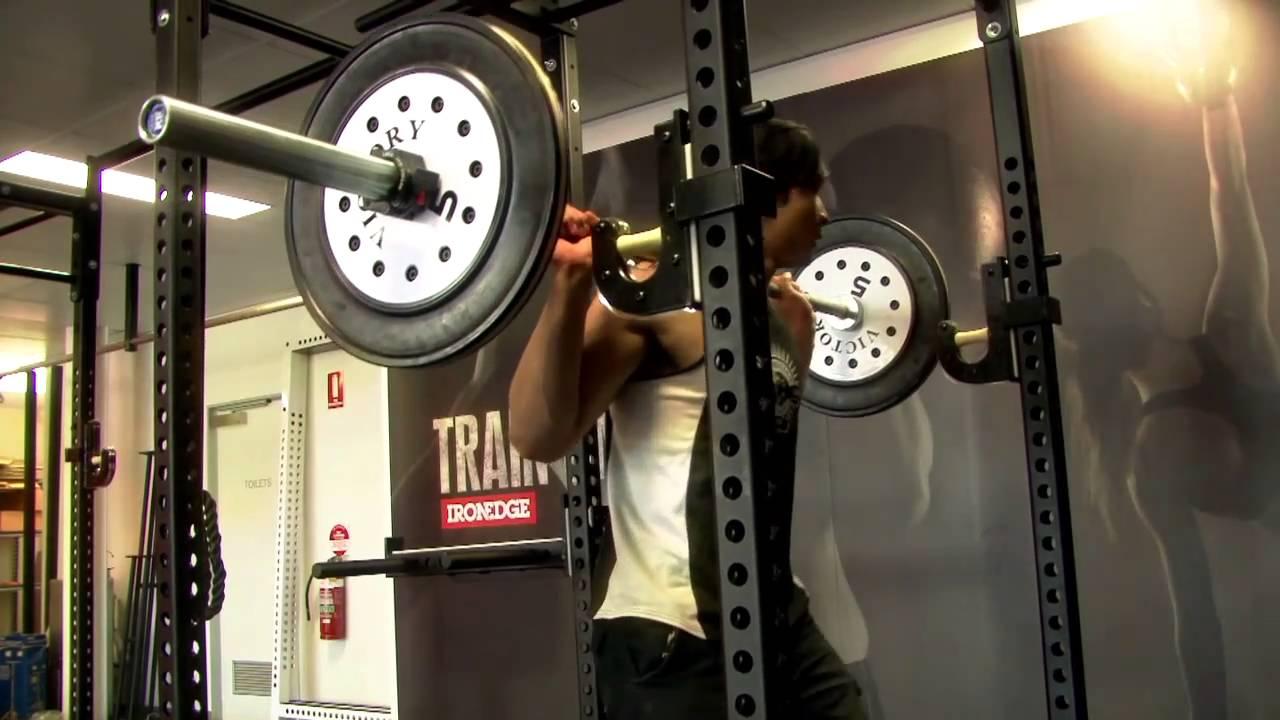 the single matrix squat rack by iron edge