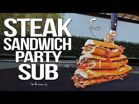 Massive Steak Sandwich Party Sub | SAM THE COOKING GUY 4K
