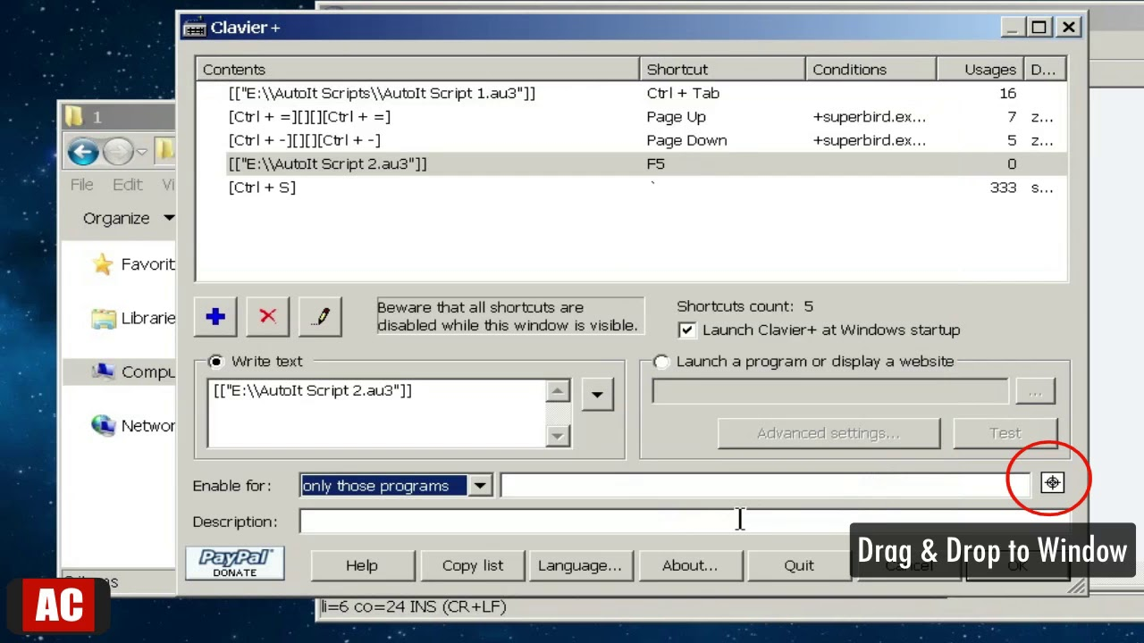 AutoIt Script (FREE) - Copy Selected Items Based on Location (Windows)