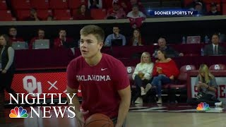Oklahoma Student Wins Year Of Free College Tuition By Hitting Half-Court Shot | NBC Nightly News