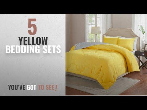Top 10 Yellow Bedding Sets [2018]: Comfort Spaces – Vixie Reversible Down Alternative Comforter