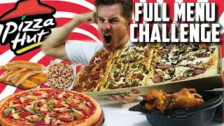 SUPERCHARGED PIZZA HUT MENU CHALLENGE! (10,000+ CALORIES)