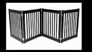 Dynamic Accents 42421 Four Panel Ez Pet Gate Small Black