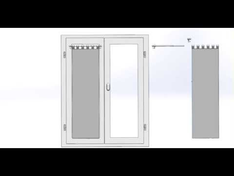 pose d 39 une tringle extensible entre murs autobloquante doovi. Black Bedroom Furniture Sets. Home Design Ideas