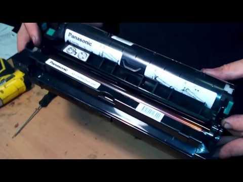 Заправка картриджа Panasonic KX-Fad89A How To Rebuild  Panasonic Drum KX-FAD89A