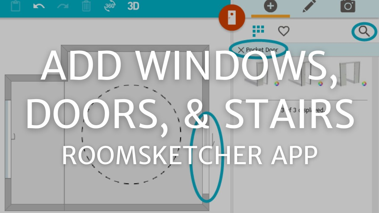Add Windows Doors And Stairs Roomsketcher App Youtube