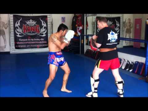 Torrance Muay Thai kickboxing | Kornpet Petchrachapat Muay Thai Pad Work |   (310)376-1602