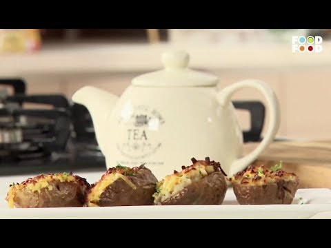 Baked Potato Skins with Masala Oats  Snack Time  Chef Ajay Chopra  FoodFood