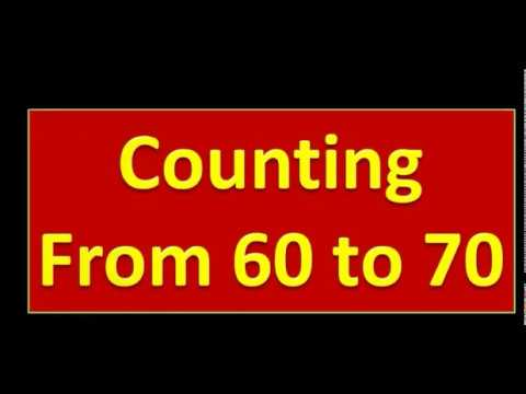COUNTING FROM 60  To 70 || Nursery Kids