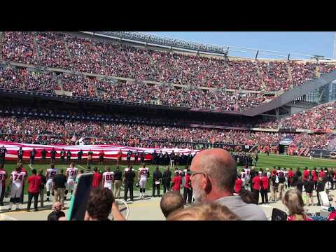 B2 Stealth Bomber Flyover @ Soldier Field 9-10-2017