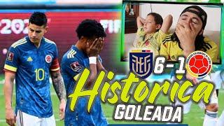 REACCIÓN ECUADOR vs COLOMBIA (6-1) | GOLEADA HISTÓRICA | ELIMINATORIAS RUMBO AL MUNDIAL QATAR 2022