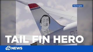 Harvey Milk's face featured on Norwegian Airlines plane