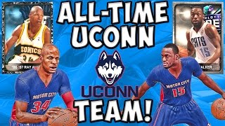 All-Time UCONN Huskies Team! - NBA 2K15 MyTeam - Onyx Ray Allen and Kemba Walker!
