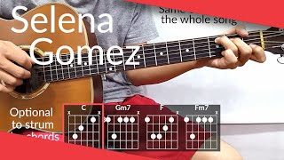 How to play guitar with the original song. selena gomez cut you off chords. hope this helps! dm me on instagram if need help any of songs i...