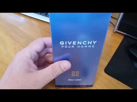 Givenchy Pour Homme Blue Label как отличить оригинал